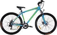 """Горный велосипед 29 дюймов Azimut Swift. Рама 21"""". Дисковые тормоза. Бирюзовый, фото 1"""