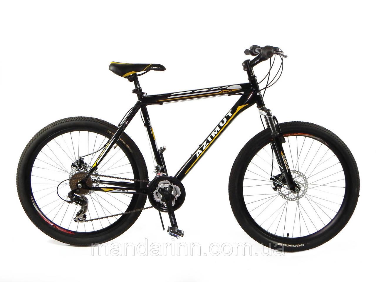 """Горный велосипед 29 дюймов Azimut Swift. Рама 21"""". Дисковые тормоза. Черный"""