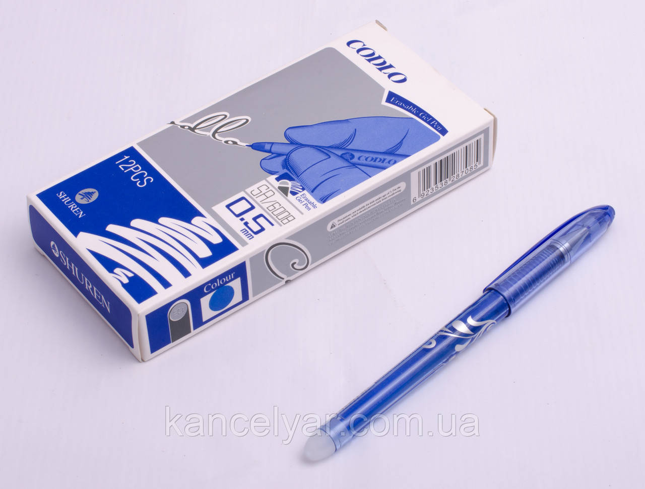 """Ручка шариковая """"пишет-вытирает"""", 0.5 мм, в ассортименте"""