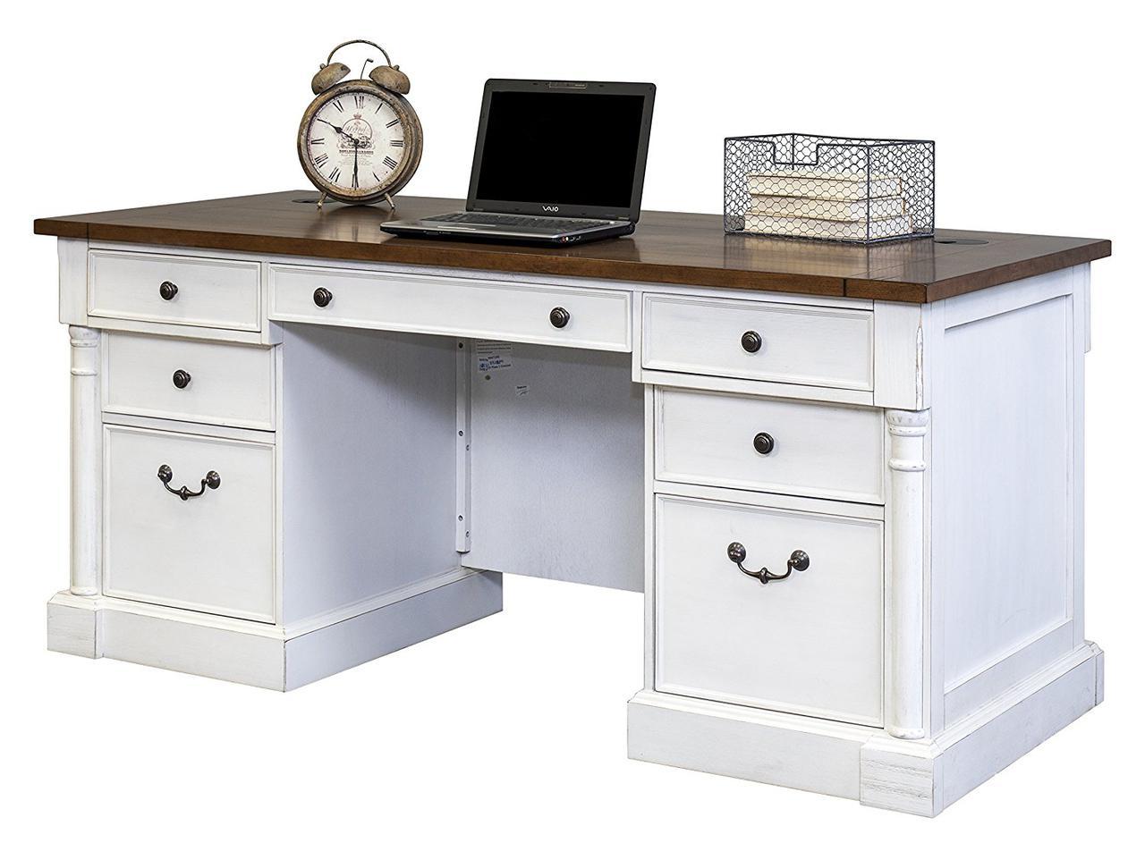 """Письменные столы белые из дерева """"Бетти"""""""