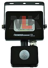 Прожектор светодиодный с датчиком влагозащищенный IP65 10W 6400K Horoz