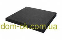 Резиновая плитка для тренажерных залов и фитнеса толщина 20 мм, выбрать цвет Черный