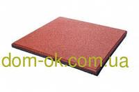 Резиновая плитка для тренажерных залов и фитнеса толщина 20 мм, выбрать цвет Красный