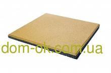 Резиновая плитка для тренажерных залов и фитнеса толщина 20 мм, выбрать цвет Желтый
