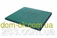 Резиновая плитка для тренажерных залов и фитнеса толщина 20 мм, выбрать цвет Зеленый