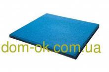 Покриття для тренажерних залів і кроссфита, гумова плитка товщиною 25 мм, вибрати колір Синій