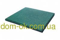Плитка из резиновой крошки Rubeco толщина 25 мм, выбрать цвет Зеленый