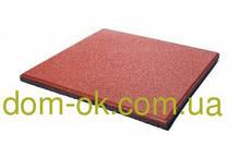 Покриття для тренажерних залів і кроссфита, гумова плитка товщиною 25 мм, вибрати колір Червоний