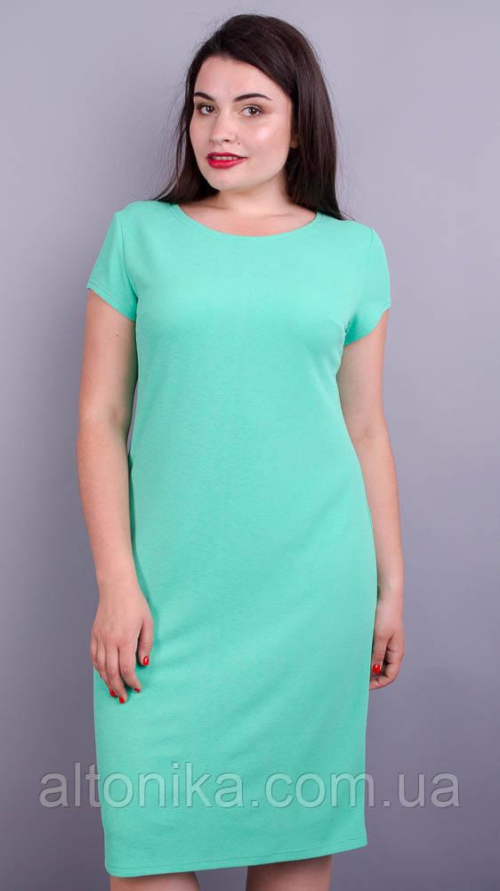Арина лето креп. Нежное платье больших размеров.