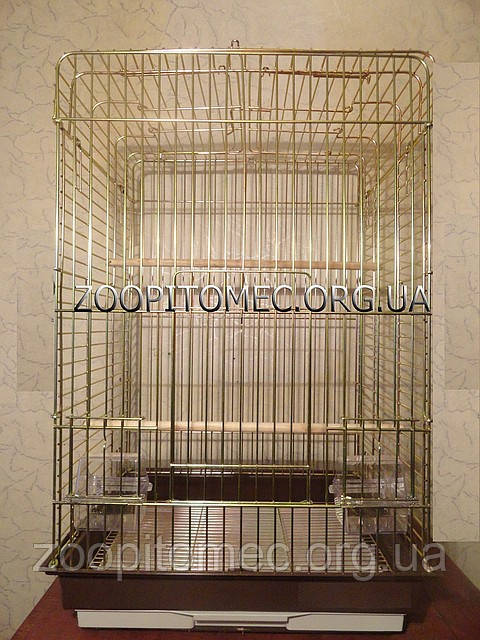Клетка вольер  БЕЛАЯ для средних, крупных попугаев с открывным верхом.52*42*80 (100) см.Фото