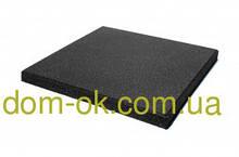 Підлогове гумове покриття для тренажерних залів та фітнесу, гумова плитка товщина 40 мм, вибрати колір Чорний