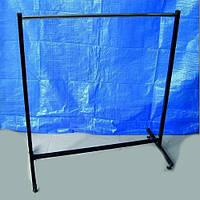 Металлическая прямая стойка вешалка ширина 150 см на ножках для продажи одежды