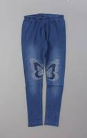 Лосины с имитацией джинсы для девочек Sincere оптом,134-164 pp.