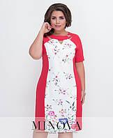 Платье приталенного кроя с рукавом до локтя (размеры 48-56), фото 1