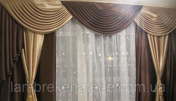 Ламбрекен в гостиную со шторами