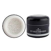 Naomi UV Glitter Gel Crystal - глиттерный гель (прозрачный с блёсткам), 5 г