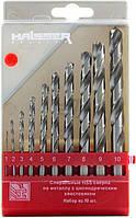 Набор сверл по металлу HAISSER HSS - (1-10мм), 10шт (23895)