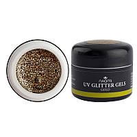 Naomi UV Glitter Gel Gold - глиттерный гель (золото с блёсткам), 5 г