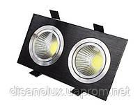 Светильник Downlight LED BR-002  20вт 230в  черный  3000К, фото 2