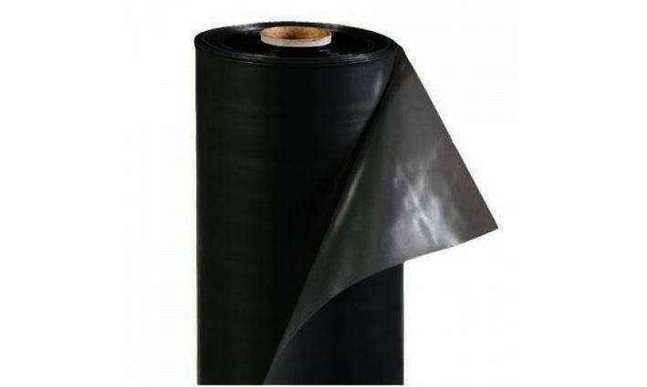 Плёнка полиэтиленовая строительная чёрная 80 мкм ( 6 м х 50 м.п)