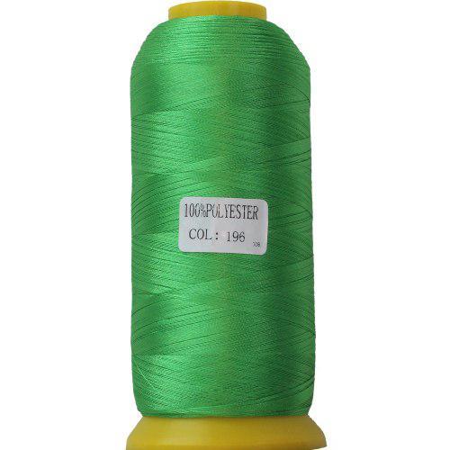 Нитки для машинної вишивки поліестер 40 колір зеленый196