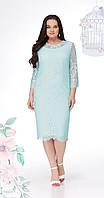 Платье LeNata-11907 белорусский трикотаж, мята, 50