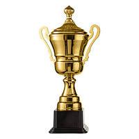 Кубок спортивный с ручками и крышкой 46 см, фото 1