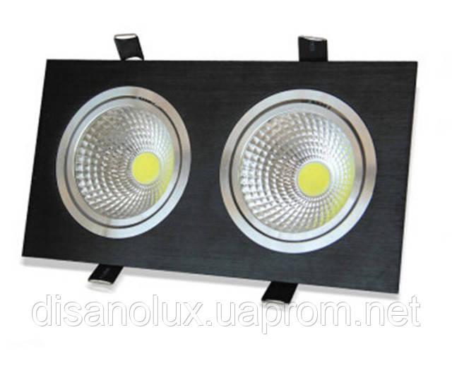 Светильник Downlight LED  BR-002 14вт 230в  черный  3000К IP20