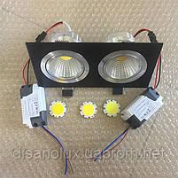 Светильник Downlight LED  BR-002 14вт 230в  черный  3000К IP20, фото 5