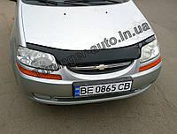 Мухобойка, дефлектор капота Chevrolet Aveo 1-2 и HB. 2002-2005 (Fly)