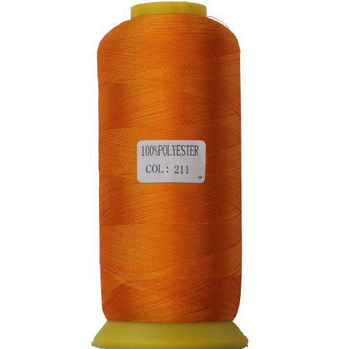 Нитки для машинной вышивки полиэстер 40 цвет морковный 211