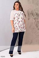 Женская летняя блуза, Мода плюс, фото 1