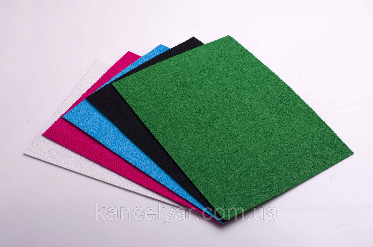 Фоамиран с флоком (ворсистый): 10 листов одного цвета, 20х30 см, в ассортименте