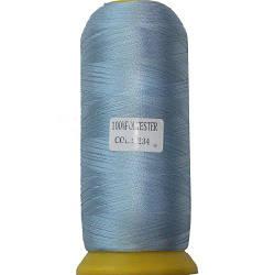 Нитки для машинной вышивки полиэстер 40 цвет васильковый 234