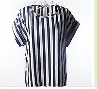 Блузка с коротким рукавом Liva Girl вертикальная полоса