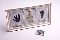 """Фоторамка детская """"Ручка-ножка"""", 39х22.5 см + штемпельная подушка для декоративных печатей"""
