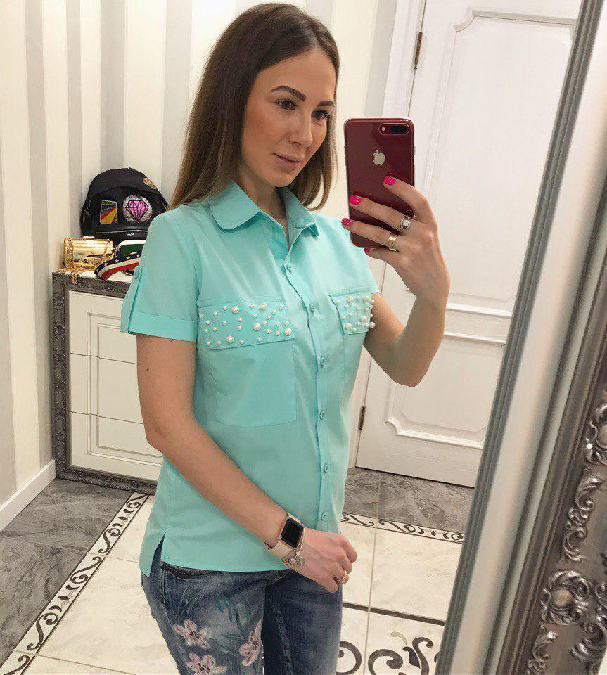 Очень красивая блузка декорирована жемчугом