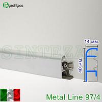Алюминиевый плинтус для пола Profilpas Metal Line 97/4.