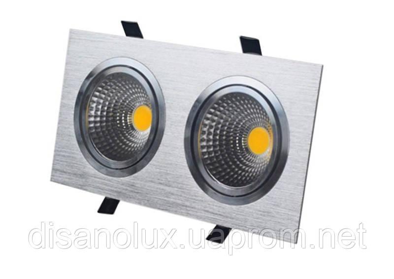 Светильник Downlight LED BR-002  2*12вт 230в  белый 4000К IP20