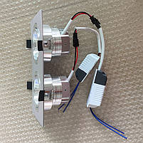 Светильник Downlight LED BR-002  2*12вт 230в  белый 4000К IP20, фото 3
