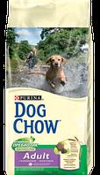 DOG CHOW Adult.корм для взрослых собак средних и крупных пород на основе мяса ягненка 14кг