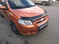 Мухобойка, дефлектор капота Chevrolet Aveo 3 Sed. 2005- (Vip), фото 1