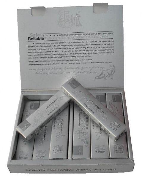 Серебряная лиса - Silver Fox (Сильвер фокс) - возбуждающий порошок для женщин 12 пакетиков