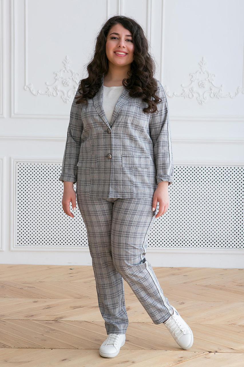 3887e4678f1fd Женский серый костюм большого размера АРИН ТМ Таtiana 56-60 размеры -  Интернет-магазин