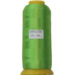 Нитки для машинной вышивки полиэстер 40 цвет лайм 289