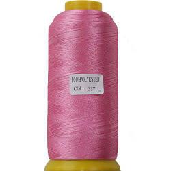 Нитки для машинной вышивки полиэстер 40 цвет розово-лиловый 317