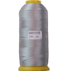 Нитки для машинної вишивки поліестер 40 колір сірий 330