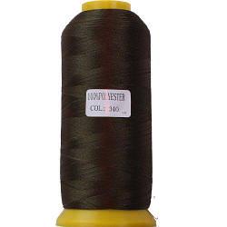 Нитки для машинної вишивки поліестер 40 коричневий колір 340