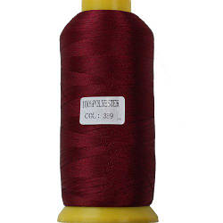 Нитки для машинной вышивки полиэстер 40 цвет темно алый 389