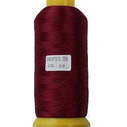 Нитки для машинної вишивки поліестер 40 колір темно червоний 389